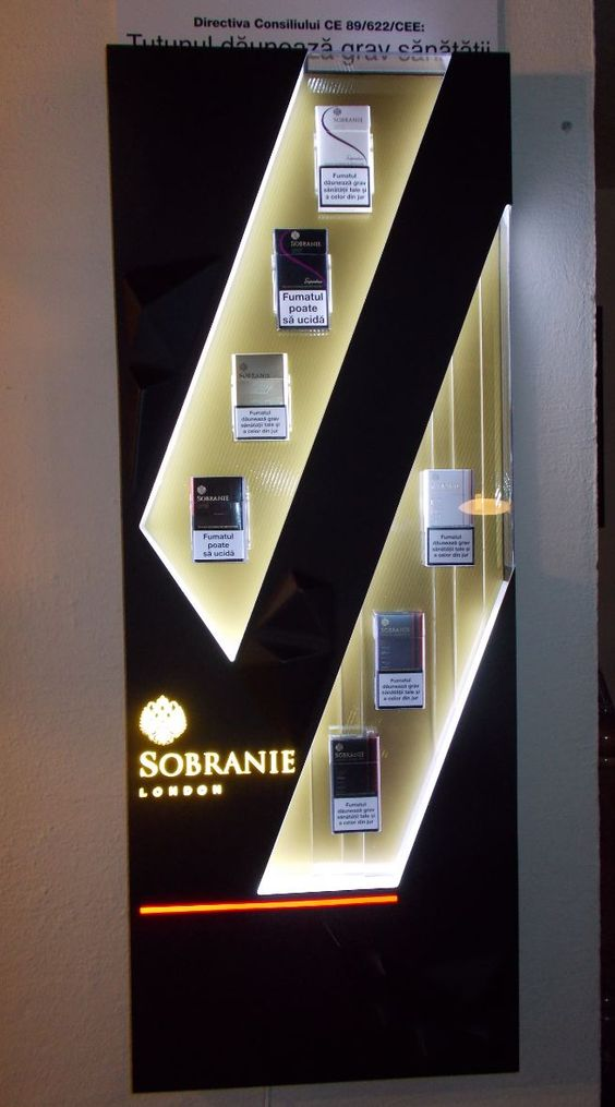 Sobranie Cigarettes Display